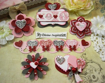 Echo Park Yours Truly Handmade Paper Hearts and Paper Embellishments for Scrapbooking Cards Mini Albums Tags Paper Crafts