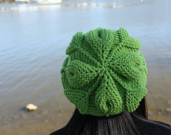CROCHET PATTERN: Embossed Leaves Slouch Hat - Permission to Sell Finished Product