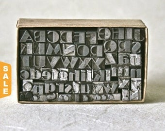 August is Letterpress Month - 20% off Vintage Letterpress Type 18pt Broadway for Printing Stamping and Clay Stamping