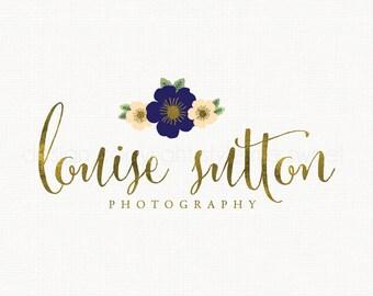 photography logo flower logo design gold logo design premade logo design photographers logo event planner logo florist logo design