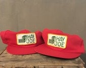 40% OFF Vintage 1970s/1980s Red Hay Joe Trucker Hat Snap Back 2 Available