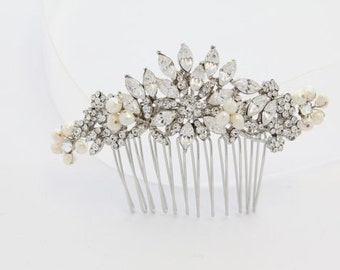Vintage inspired Bridal hair comb pearl,Wedding hair accessories,Wedding decorative combs,Wedding hair piece,Bridal hair piece,Wedding comb