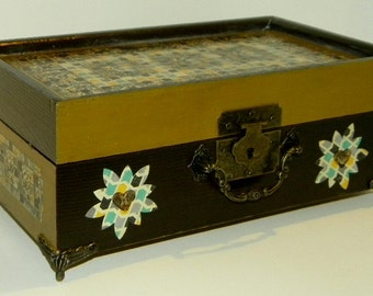 Golden Browns Vintage Style Jewelry Box