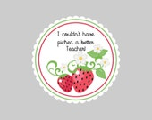 Strawberry Tags  Personalized Tags  Thank you Tags  Berry Sweet Tags Wedding Favor Tags  Birthday Tags