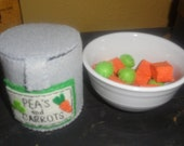 Felt Peas and Carrots In a Can