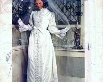 UNCUT Vintage 1960s Vogue 2349 Belinda Bellville Couturier DRESS Wedding or Bridal Long or Short Evening Sewing Pattern Size 12 Bust 34