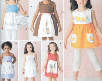 Simplicity 2167 Girls Sun Dress & Hanger Cover Vintage Pillowcase Dresses Sewing Pattern Size 3, 4, 5, 6, 7, 8 UNCUT