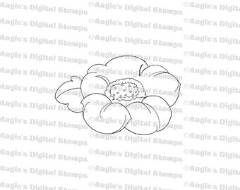 Large Flower Digital Stamp Image