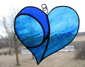 Blue Heart Suncatcher