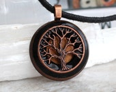black tree of life necklace, tree necklace, mens necklace, celtic jewelry, unique gift, mens gift, mens jewelry, nature necklace, oak tree