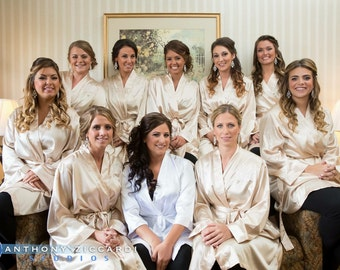 Silk champagne robe | Etsy