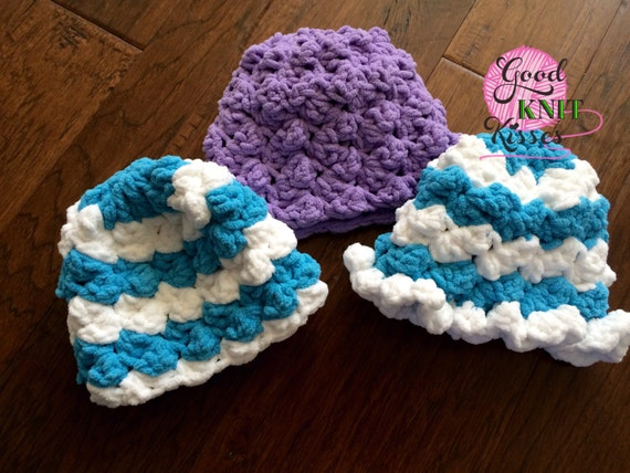 Crochet Baby Hat PATTERN. Marshmallow Crochet Baby Hat ...