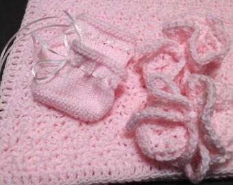 Baby Girl Gift Set, Pink Baby Set