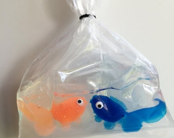 KISSING SOAP Fish 3 oz Soap, safe for kids VEGAN 100 percent Glycerin, Party idea - Two Fish Kiss in a Bag - Lush Party Favor Love Valentine
