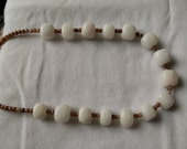 Agate and Quartz Stone Beaded Necklace
