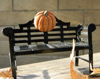 Halloween Fairy Garden Bench Halloween Miniature Accessories Fairy Garden Furniture Fairy Furniture