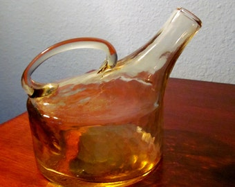 Vintage Amber Colony Glass Mini Jug