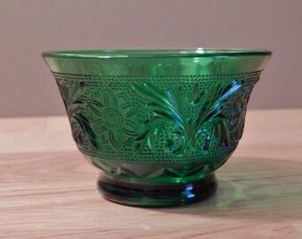 Tiara Glassware Spruce Green Custard Cup