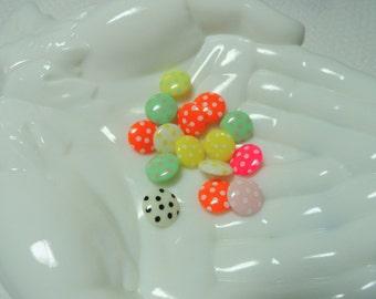 Novelty Buttons, Polka Dot Buttons, Craft Buttons