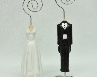 Wedding - Place Card Holder - Bride and Groom - Wedding Couple - Set of 2 - Anniversary Couple