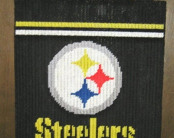 Steelers Banner Plastic Canvas Pattern