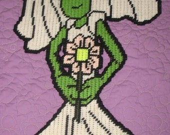 Alien Bride And Groom Plastic Canvas Patterns
