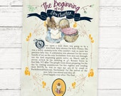 Storybook Baby Shower Invitation - Peter Rabbit or Mother Goose Childrens Story Book - PRINTABLE or Printed Invitations
