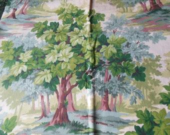 Bark Cloth Fabric off the Bolt, Greenery & Trees, Earthtones