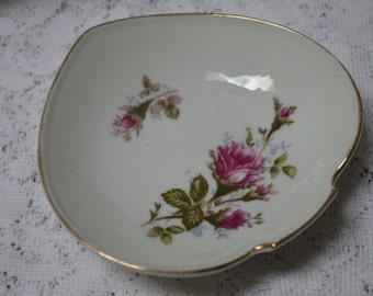 Norcrest Rose Trinket Dish