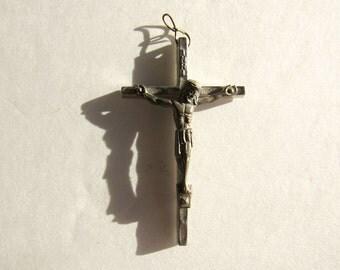 Vintage Metal Crucifix Pendant