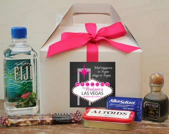 Bachelorette Weekend Survival Kit Boxes | Hangover Kit | Wedding Weekend Survival Kit | Vegas Bachelorette Party | Vegas Survival Kit