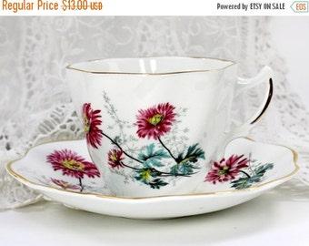 Royal Dover Teacup, Vintage Tea Cups, English Bone China, English Cups, Tea Cup Set 12595