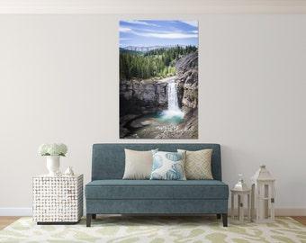 Photographic Wall Art - Alberta Waterfall - Ram River - Aluminum Metal print ready to hang - Fine Art Photography
