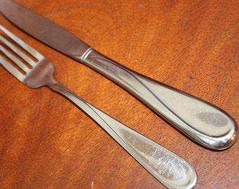 Vintage Flatware from ONEIDA in FLIGHT or RELIANCE Pattern Stainless Silverware BiN 16