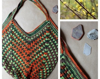 Boho Bag green/orange/brown