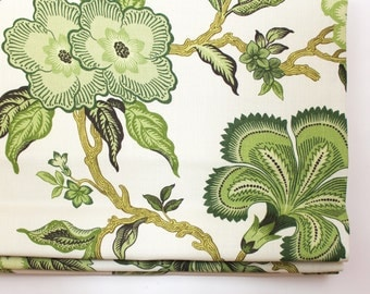 Celerie Kemble for Schumacher Hothouse Flowers Roman Shade (shown in Verdance-comes in 4 colors)