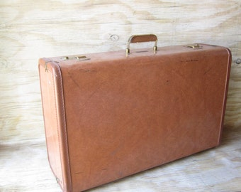 Vintage Suitcase Storage - Photo Prop - Staging - Large Valise