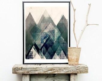 modern home decor, home art, lodge art, rustic wall art, geometric wall art, geometric prints, art prints, wall art, art, retro art, mod