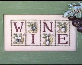 Wine - Cross Stitch Pattern - Hinzeit Mini Blocks Counted Cross Stitch Pattern Chart - Wine Cross Stitch - Kitchen Cross Stitch