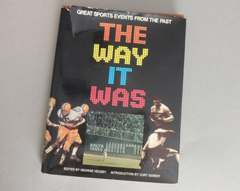 Vintage Sports Book, The Way It Was, Sports Memorabilia Book, Football Book, Baseball Book, Basketball Book, Greatest Sports Events, 1974