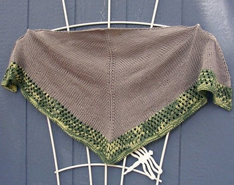 Grey Pacifica Knitted Shawl    (10)