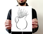 Artist's Brushes Print