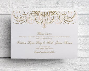 Blush and Gold Wedding Save the Date - Sample