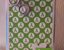 Ribbon Awareness Lime Green, Support Ribbon Lyme's Disease, Mental Health, Celiac Disease, Green Ribbon Tin for Gastro Paresis, MD & More