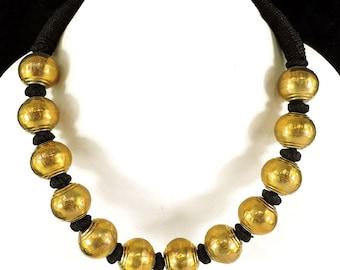Tibetan Choker Necklace Brass Beads 103666 SALE WAS 29