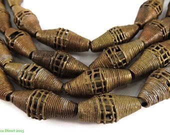 Brass Trade Beads Baule Ivory Coast African 96407