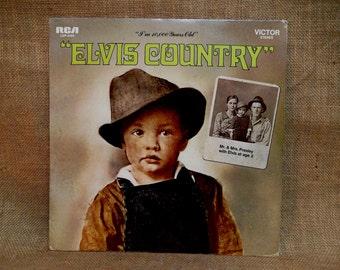 "CHRISTMAS SALE Elvis Presley - ""Elvis Country"" - 1971 Vintage Vinyl Record Album"