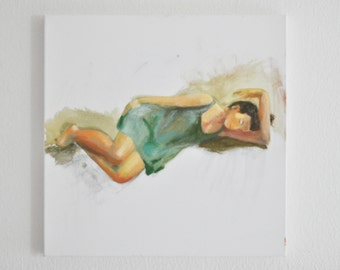 Recluse #5 Acrylic Figurative Painting by Anna Baer