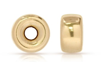 14Kt Gold Filled 3mm Roundel 1mm Hole - 20pcs 10% discounted Made in USA (4448)/1