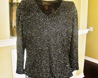 Black Beaded Formal Top